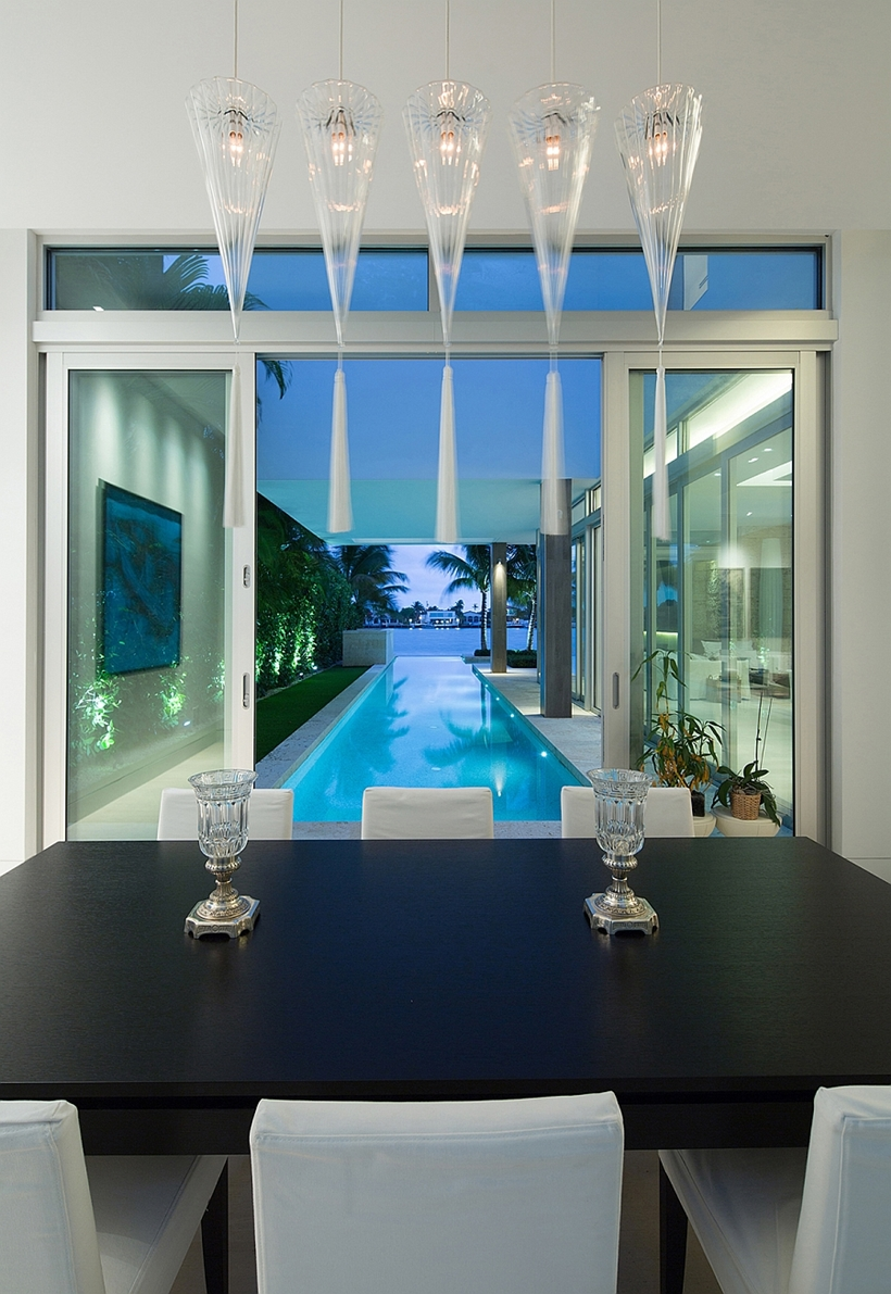 Dining room view of the pool