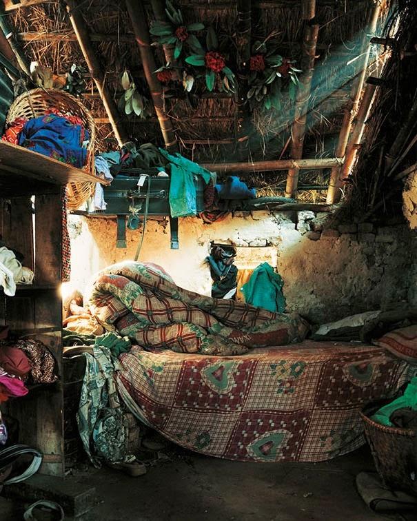 16 Children & Their Bedrooms From Around the World - Indira, 7, Kathmandu, Nepal - Indira's Bed