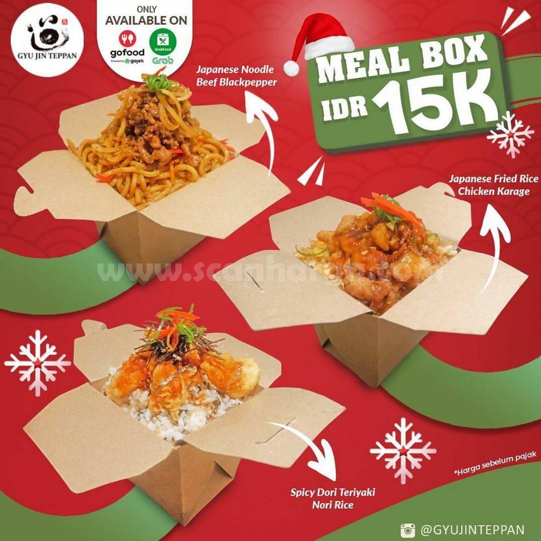 Gyu Jin Teppan Promo harga Spesial MEAL BOX hanya Rp 15.000,-