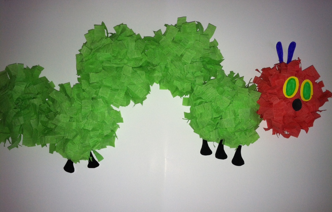 Hungry Caterpillar Party Prep Crepe Paper Caterpillar Pink