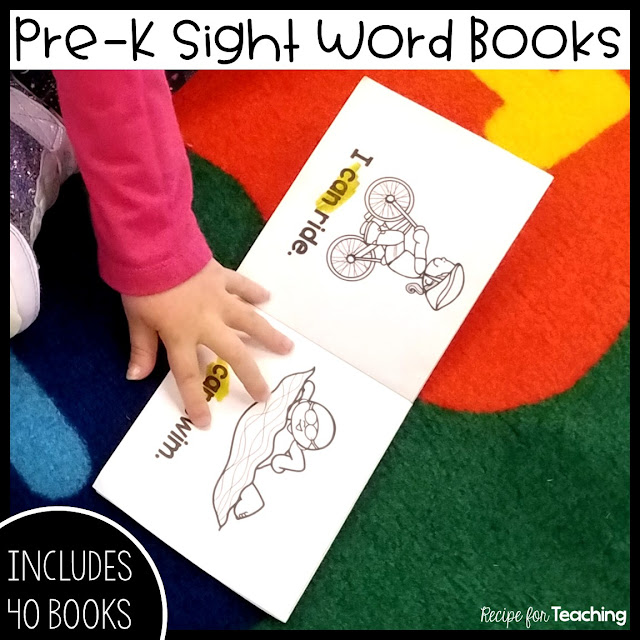 https://www.teacherspayteachers.com/Product/Pre-K-Sight-Word-Books-5052500