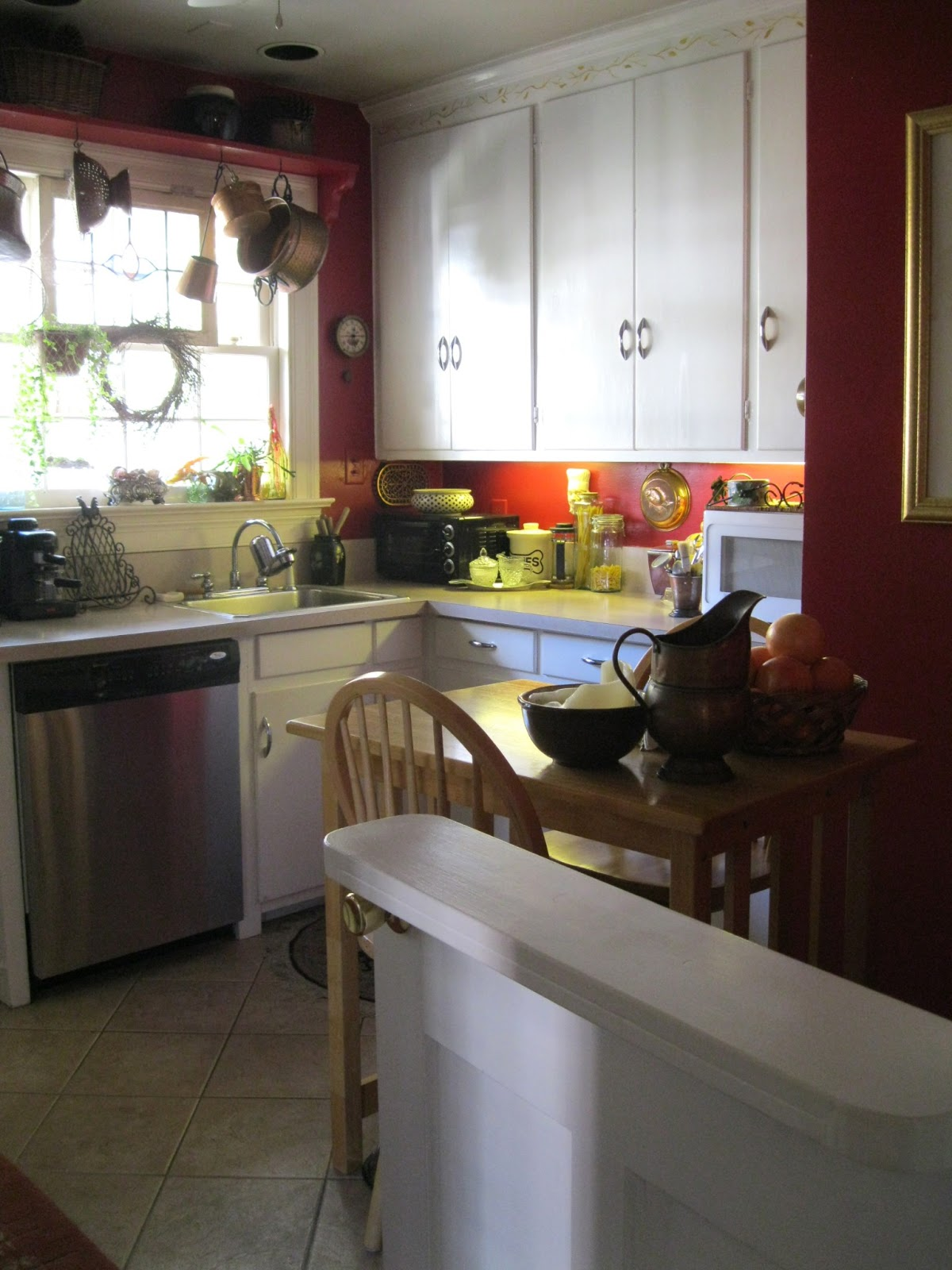 What Is A Kitchen: Donna's Art At Mourning Dove Cottage: The Red Kitchen