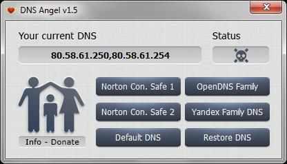 DNS Angel 1.6 | Protege a tus hijos en la red bloqueando las DNS inapropiadas