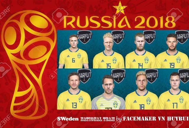 Sweden National Team Facepack - PES 2018 - PATCH PES | New