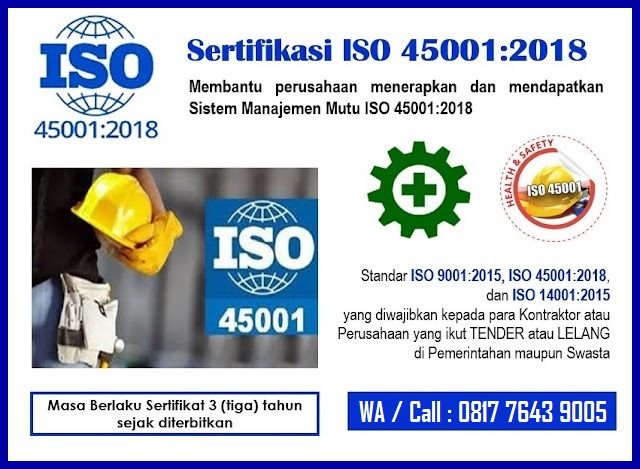 Sertifikasi ISO 45001 2018