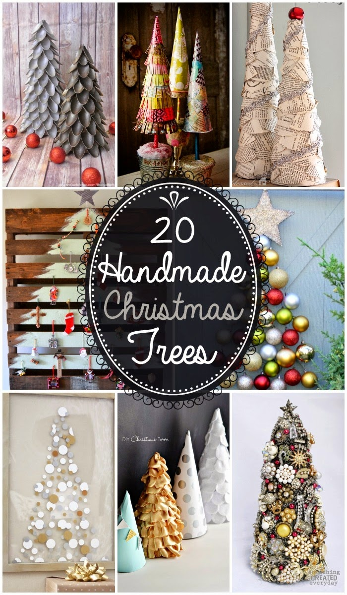 20 handmade christmas trees diy craft projects for Good ideas for homemade christmas decorations