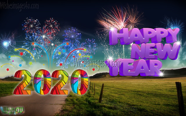 Happy New Year 2020 Fireworks Ultra HD Wallpapers Download Free