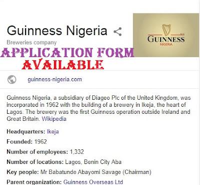 Guinness Nigeria Plc Jobs Recruitment 2018 | Available Jobs