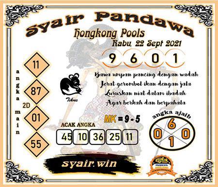 Syair Pandawa HK Rabu 22-09-2021