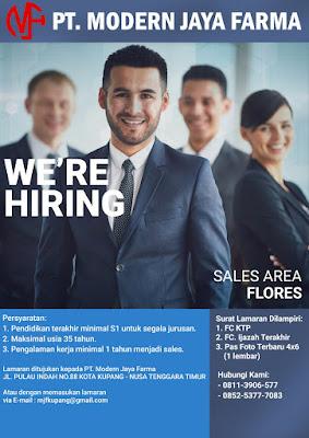 Lowongan Kerja PT Modern Jaya Farma Sebagai Sales Area Flores