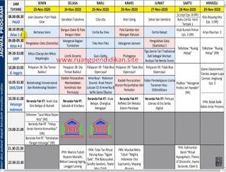 Jadwal BDR Di TVRI  Tanggal 23-29 November