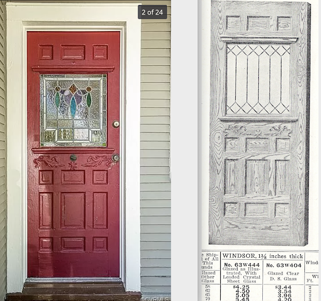red door compared to Sears WINDSOR model from catalog