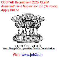 COOPWB Recruitment 2020, CLerk, Assistant, Field Supervisor