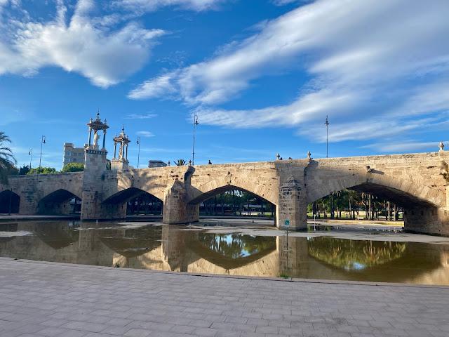 Bridge over the Turia Gardens, Valencia, Spain