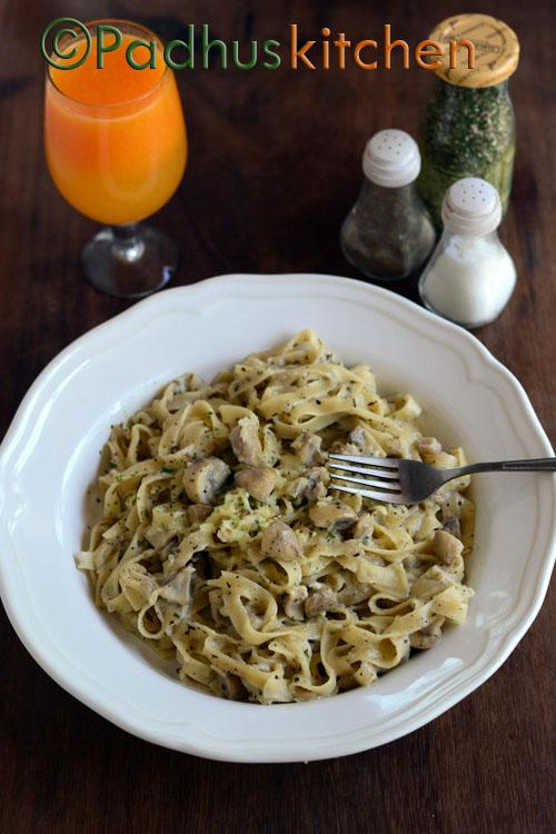 Mushroom Pasta-Creamy mushroom pasta