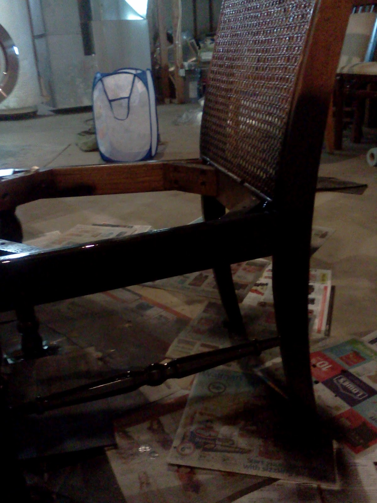 Proverbs 31 Mom How To Turn A Cane Backed Chair Into A