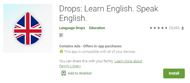 Drops: Learn English