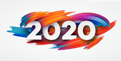 Happy New Year 2020 Facebook Cover Poster