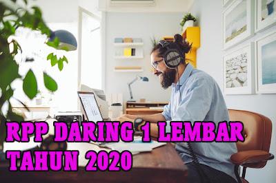 RPP DARING 1 LEMBAR TERBARU TAHUN 2020