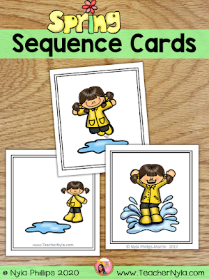 Spring Themed Sequence Cards