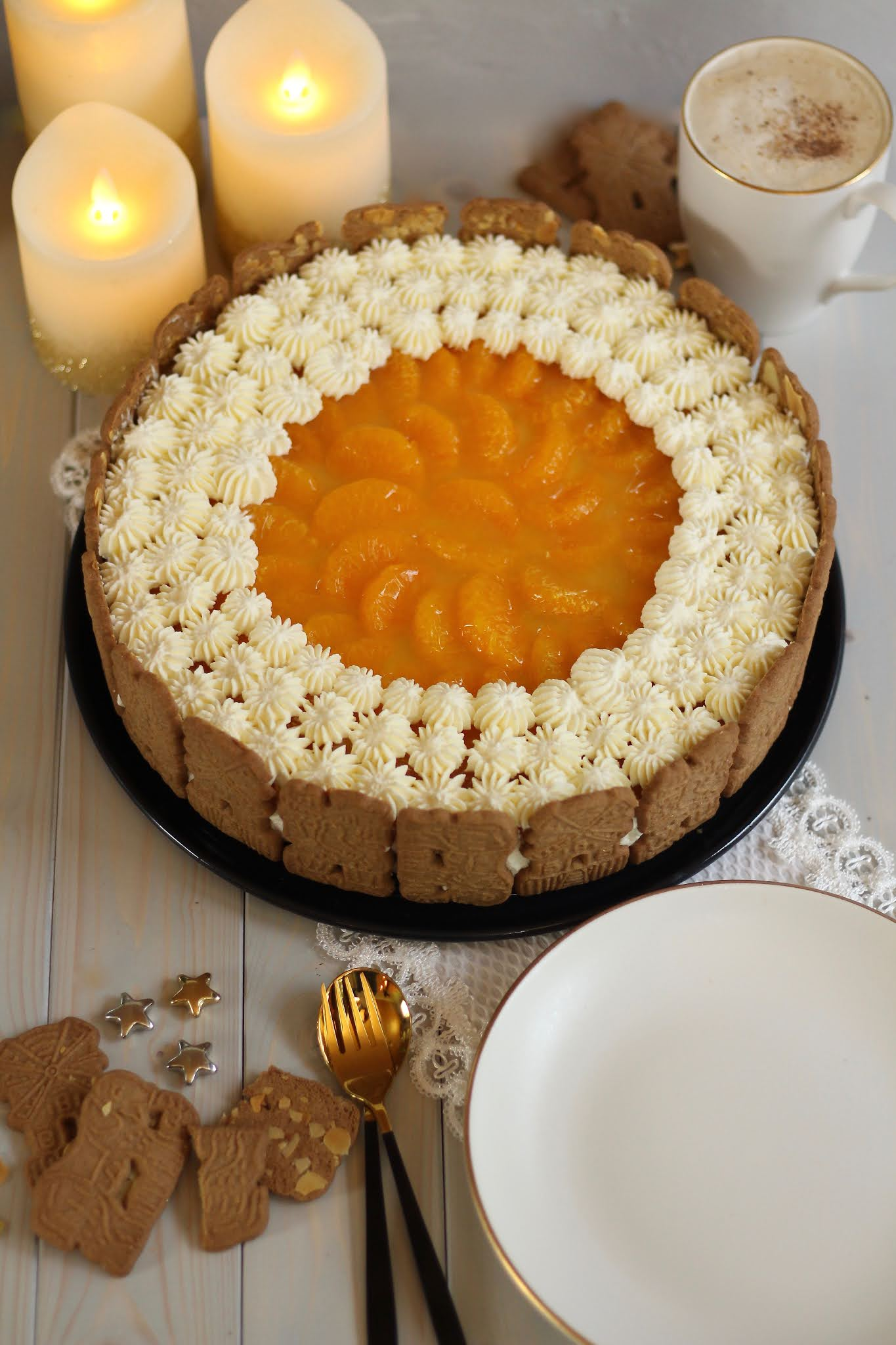 Schnelle Weihnachtstorte: Spekulatius-Mandarinen-Torte ohne Backen - Rezept und Video von Sugarprincess | SCCC 2020: Türchen Nr. 13 | Gewinnspiel