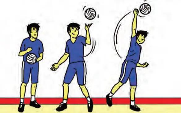 Servis samping bola voli