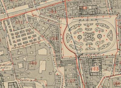 El Mercado de San Miguel en el Plano parcelario de 1877