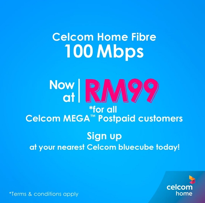 Celcom Unlimited Home Fibre Internet Price