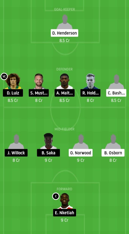 FA Cup Quarter Final - The Blades Vs Arsenal Dream11 Prediction