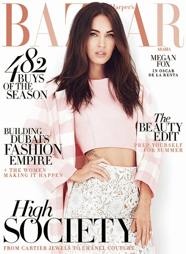 Megan Fox is sophisticated for Harper's Bazaar Arabia April 2015