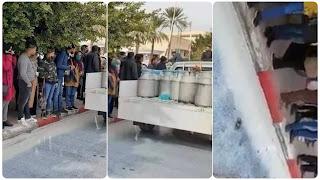 (بالفيديو) في حركة احتجاجية سكب 9 ألاف لتر من الحليب أمام المندوبية الجهوية الفلاحية -بقفصة