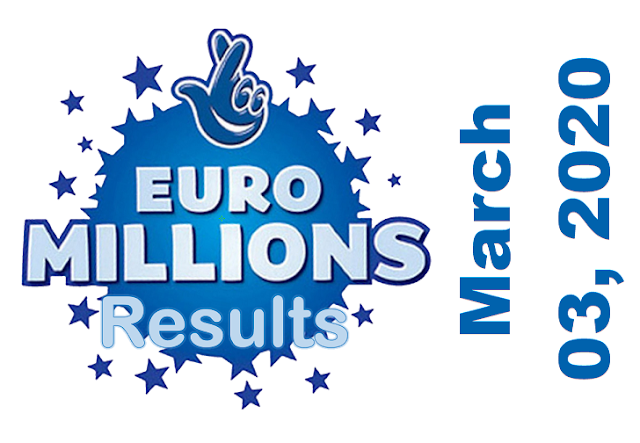 EuroMillions Results for Tuesday, March 03, 2020