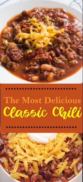 The Most Delicious Classic Chili