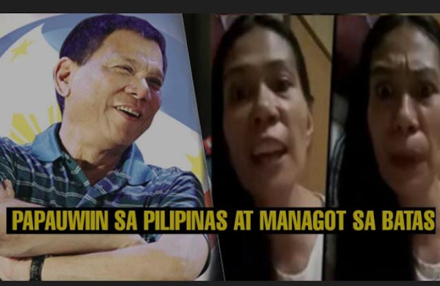Pinay OFW nag-post ng masama laban kay Duterte, pina-deport ng DOLE
