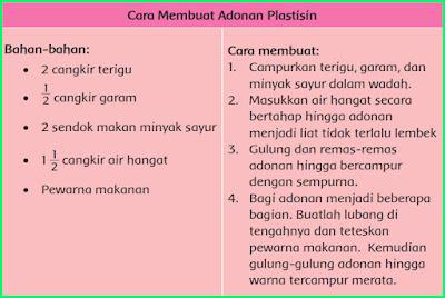 cara membuat adonan plastisin