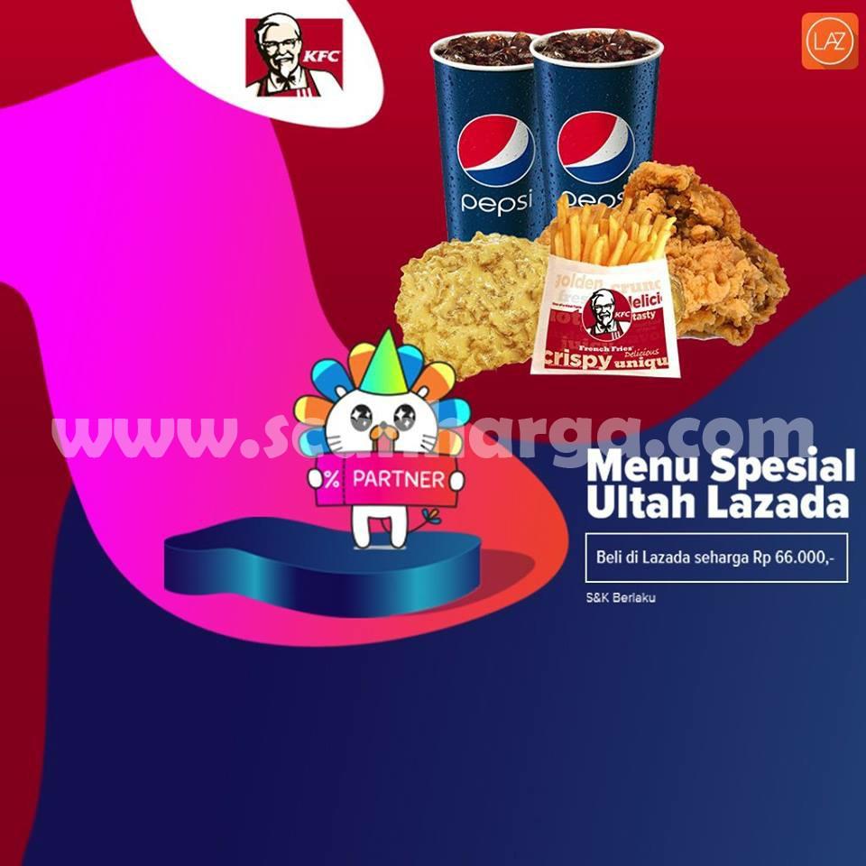 Promo KFC Terbaru Menu Combo Spesial Rp 66.000 Edisi Ulang Tahun Lazada