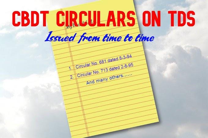 CBDT Circulars on TDS