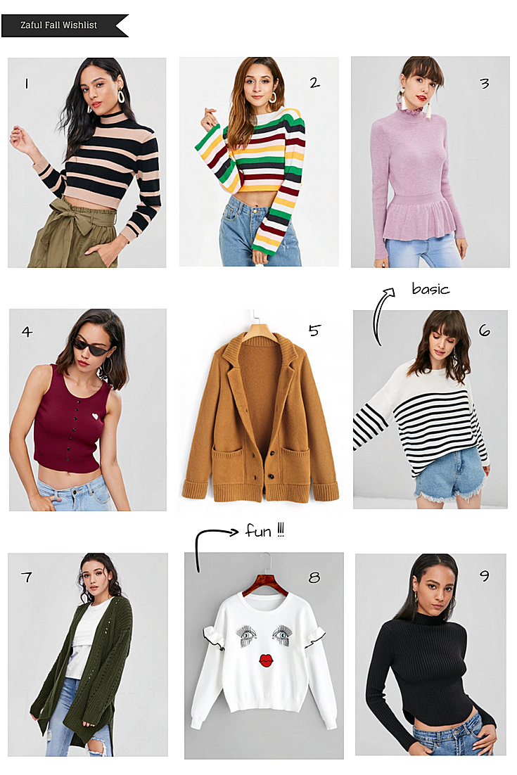 Zaful Fall Wishlist