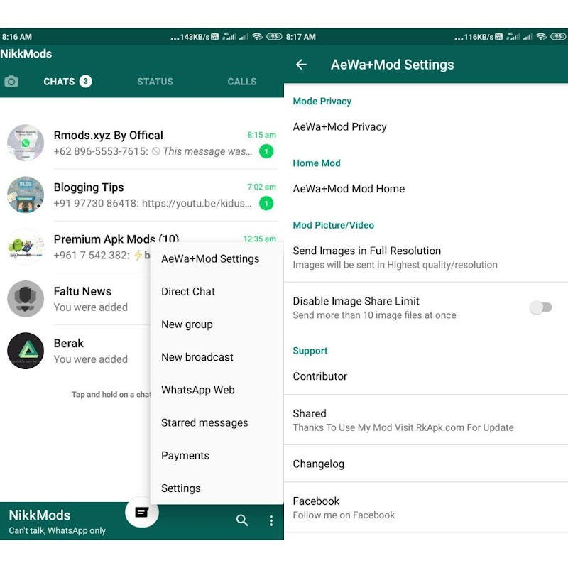 AeWhatsApp+ Mini v3.0 Download