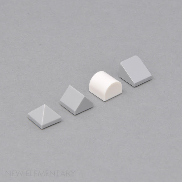 1x2 White Rounded Top xtra Small Bow Bricks ~ New Lego Parts ~ Space 6