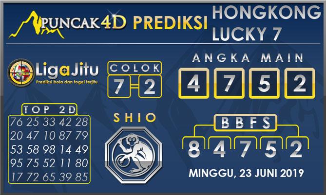 PREDIKSI TOGEL HONGKONG LUCKY7 PUNCAK4D 23 JUNI 2019