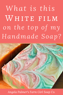 Does your handmade soap have a white film on top? Learn more about what causes a white film on soap, if it's still OK to use, and how you can prevent it.