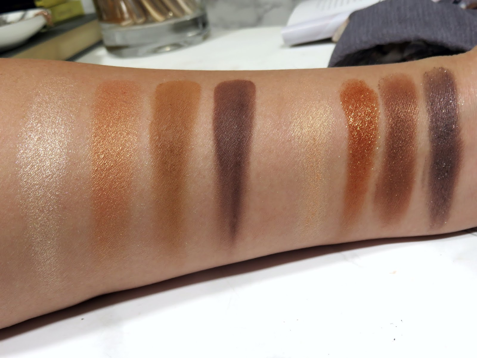 De La Creme vs. Cognac Sable Swatches