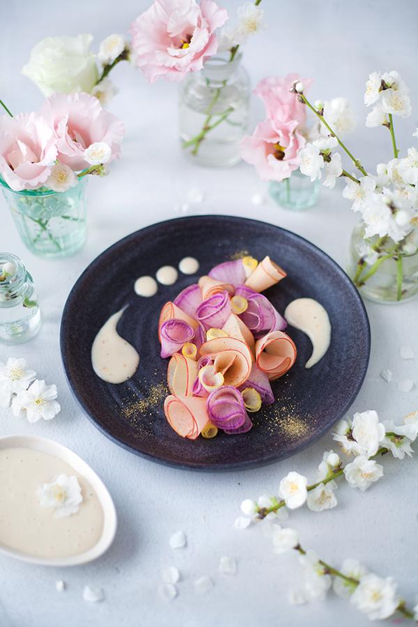 Salade fleurie de fin d'hiver