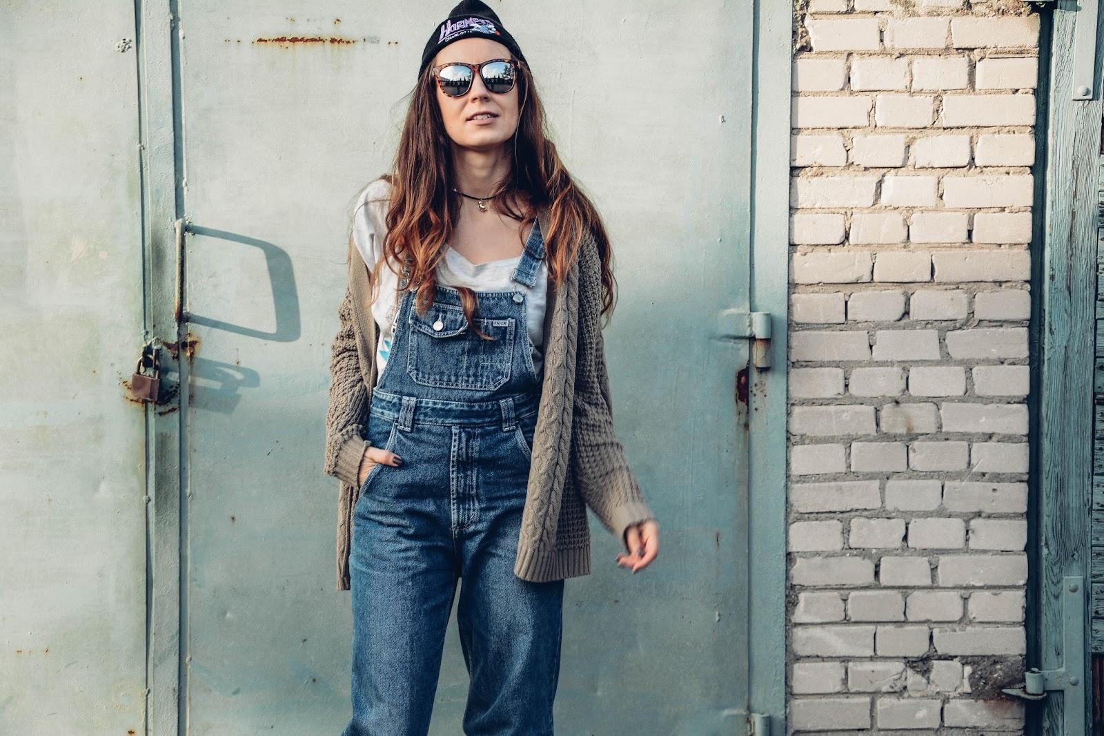 denim vintage overalls