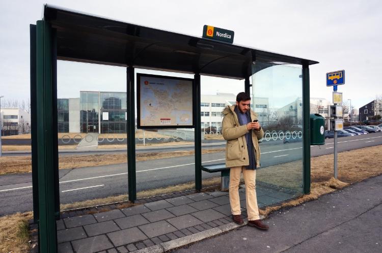 bus stop, Iceland, Euriental