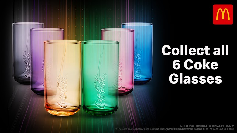 Color your day with the 2019 McDonald's Coke Glass Collection!