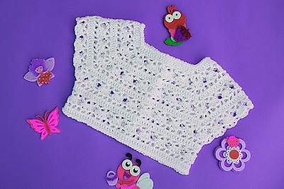 6 - Crochet Imagen Canesú blanco a crochet y ganchillo por Majovel Crochet
