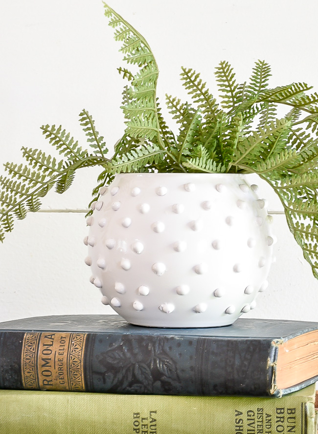 How to make a DIY Hobnail milk glass vase