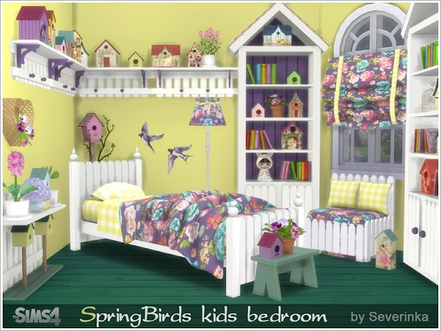 Симс 4, для The Sims 4, The Sims 4, моды для Sims 4, предметы для Sims 4, Severinka_, Sims 4, мебель, декор, детская комната, детская кровать, детская мебель, декор для детской, комната для ребенка, сказочная детская, веселая детская, фантазийная детская,